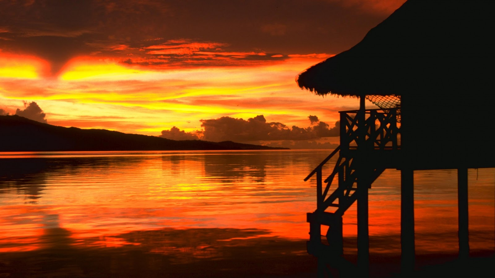 Beautiful Wallpapers beach sunset wallpaper 1600x900