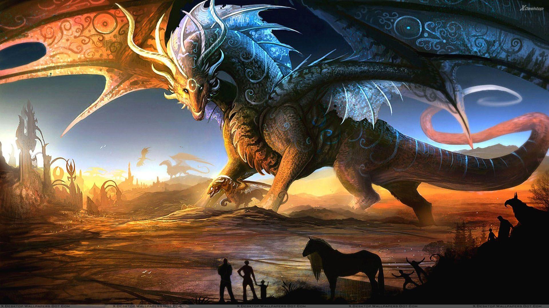 Dragon Fantasy Art Wallpaper 1920x1080