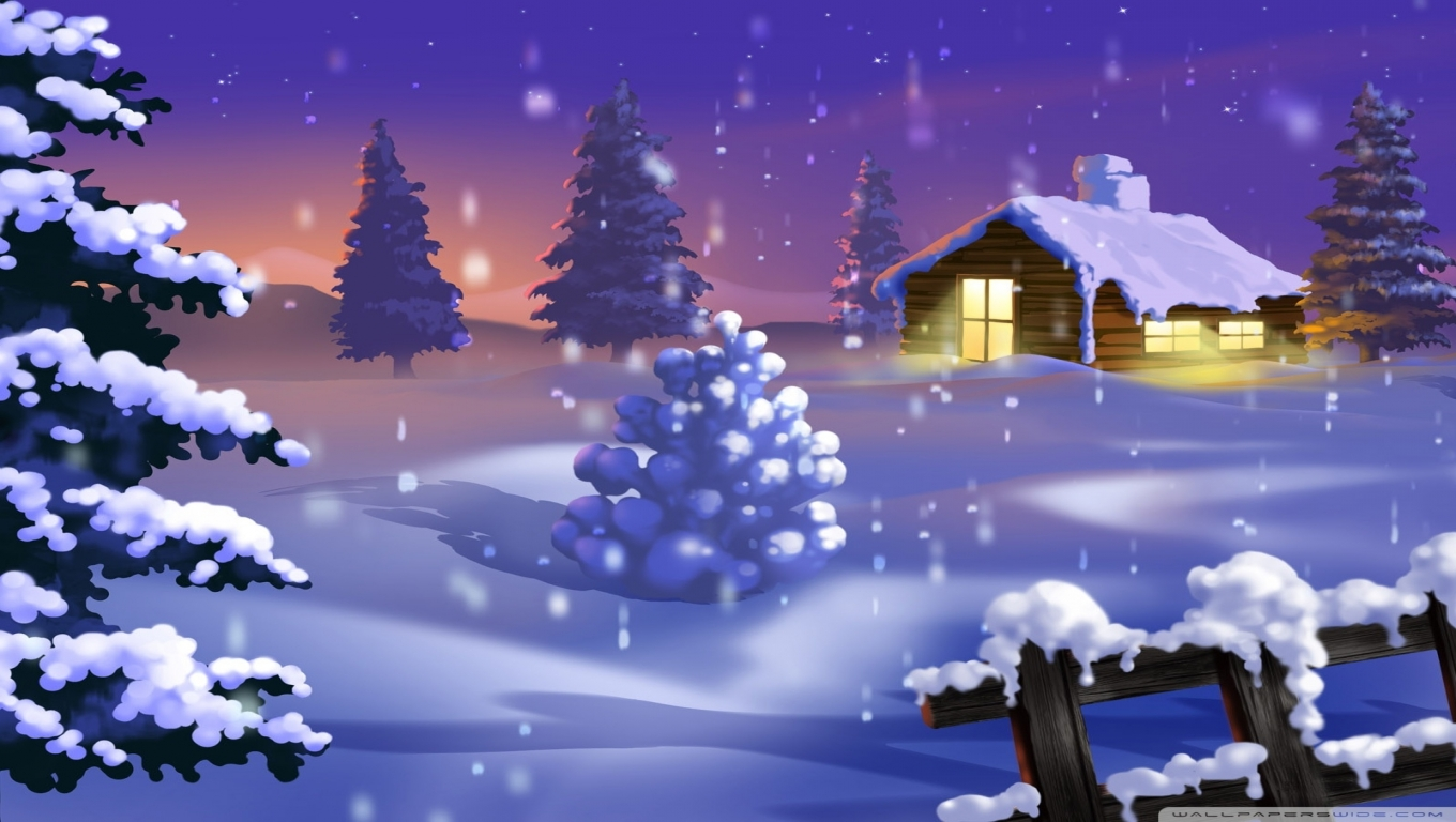 px] High Definition Wallpapers Winter Scenes Animated Wallpaper 1360x768