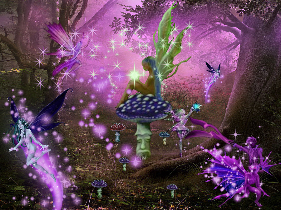 Enchanted Fairy Forest by tgirlshayna 900x675