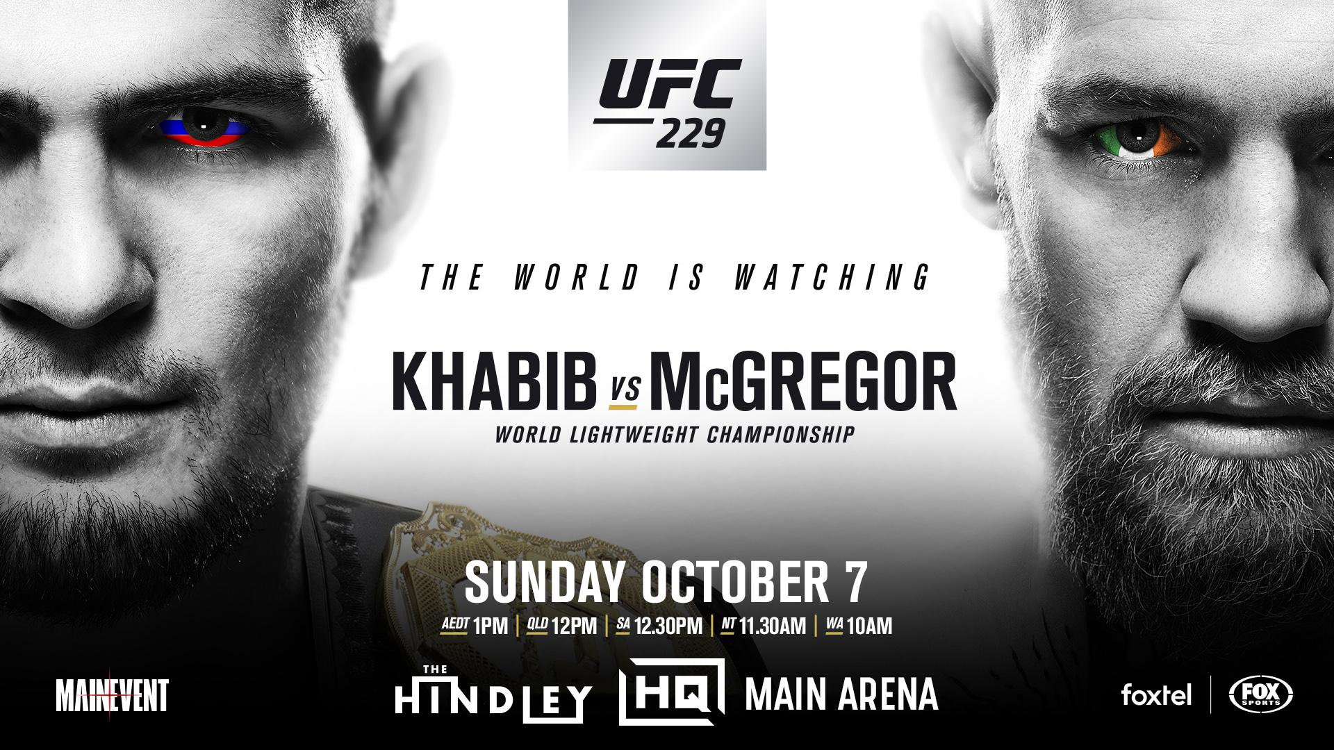 Buy UFC 229   Khabib vs McGregor tickets SA 2018 Moshtix 1920x1080