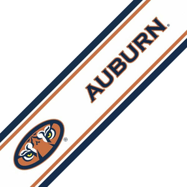 NCAA Auburn Tigers Prepasted Border   College Wallpaper Border Roll 600x600