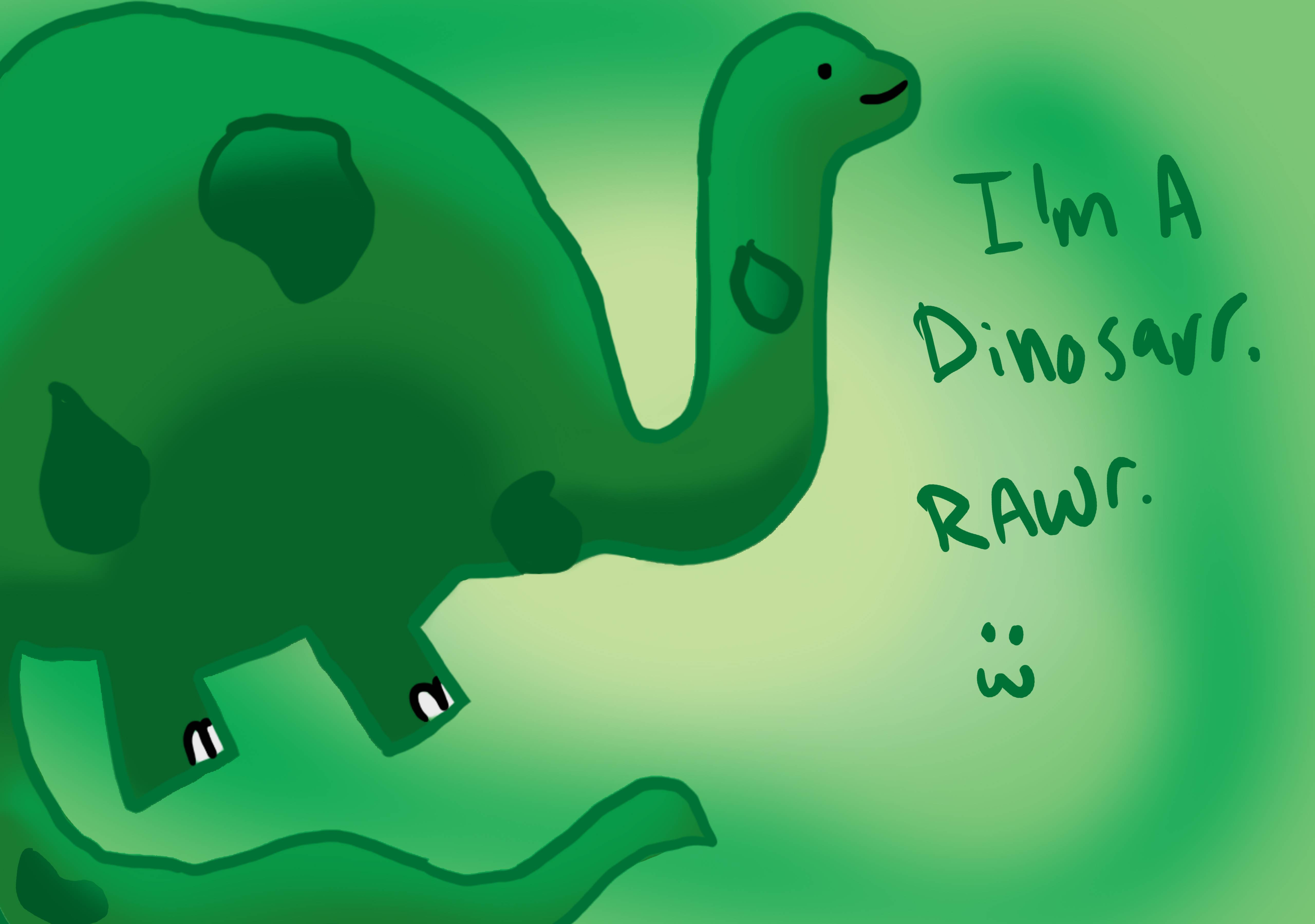 Cute Dinosaur Wallpaper 5120x3600