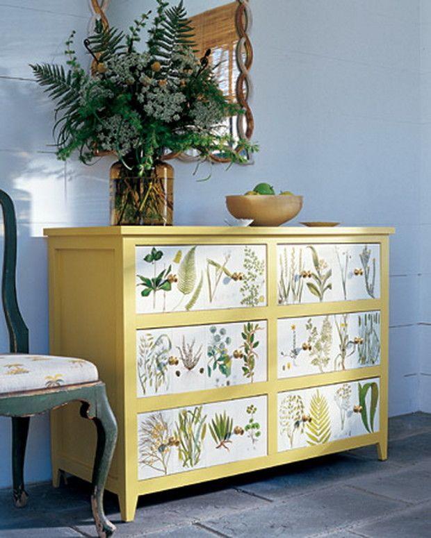 Decoupage Furniture DIY Pinterest 620x775