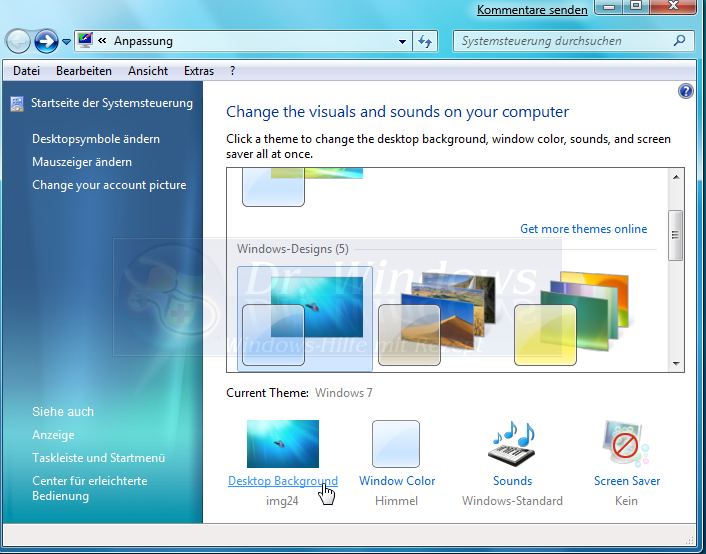 how to create a slideshow in windows 7