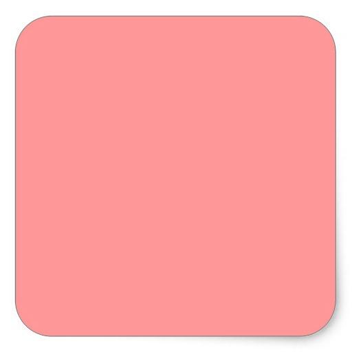 Plain Coral Pink Background Sticker Zazzle 512x512