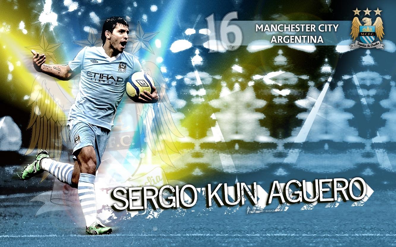 Kun Aguero Manchester City FC Best Player Wallpaper   Manchester City 1333x833