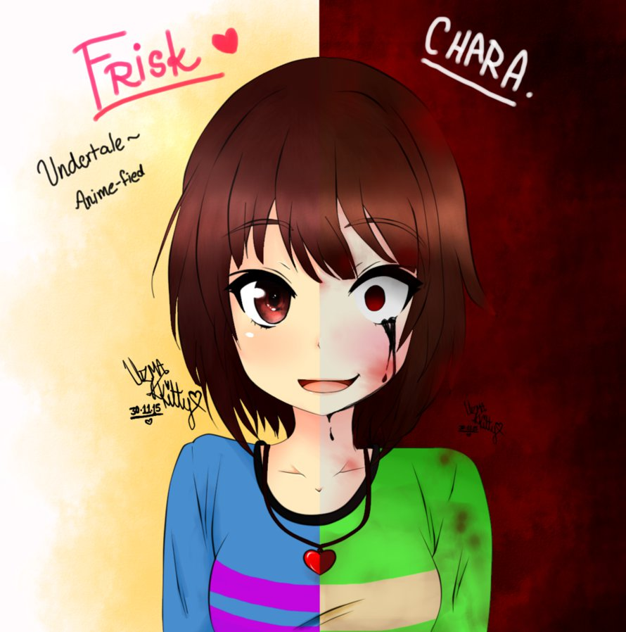 Free Download Frisk Chara Undertale By Kittybelladonna 890x898