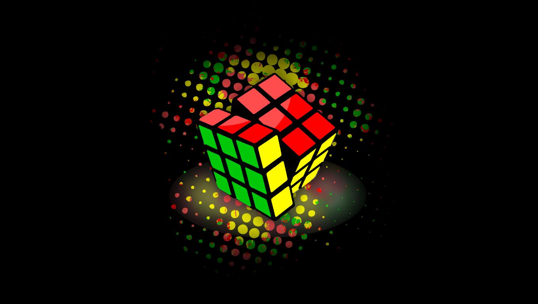Rubiks Cube   Wallpaper by xky03 1360x768