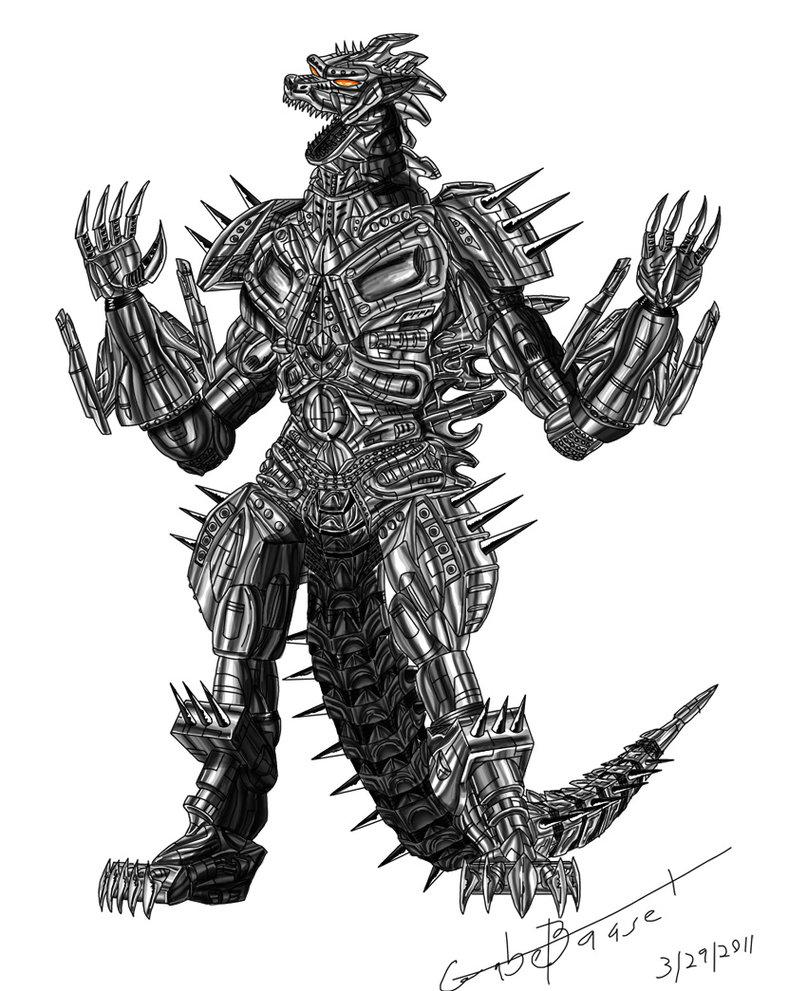 Mecha Godzilla by jaguarcats 807x991