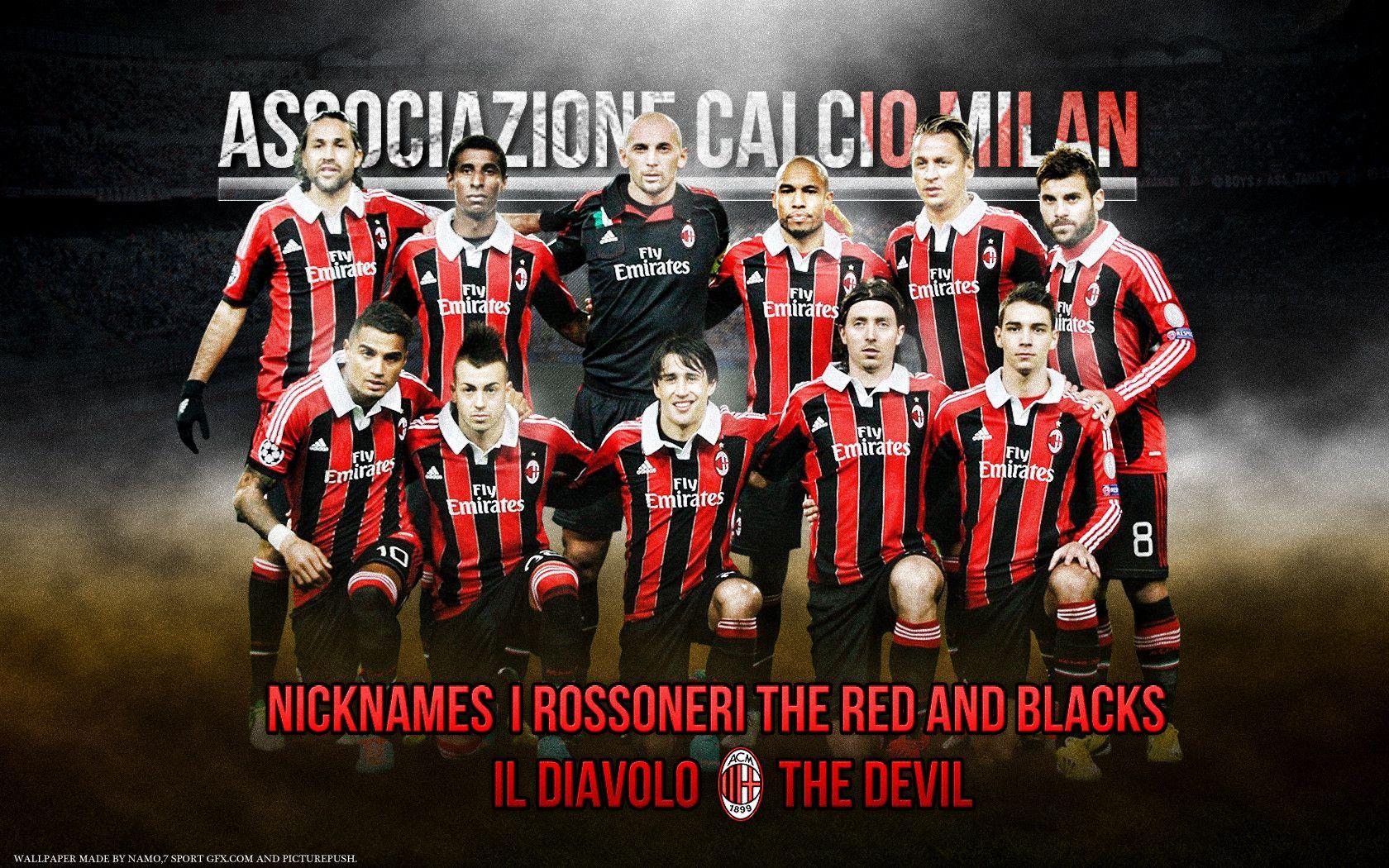 Ac Milan Wallpapers 2015 Squad 1680x1050