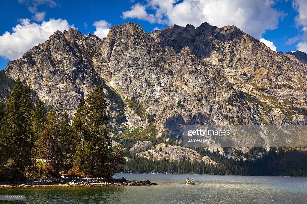 Jenny Lake With Grand Tetons In Background Stock Photo   Getty Images 1024x683