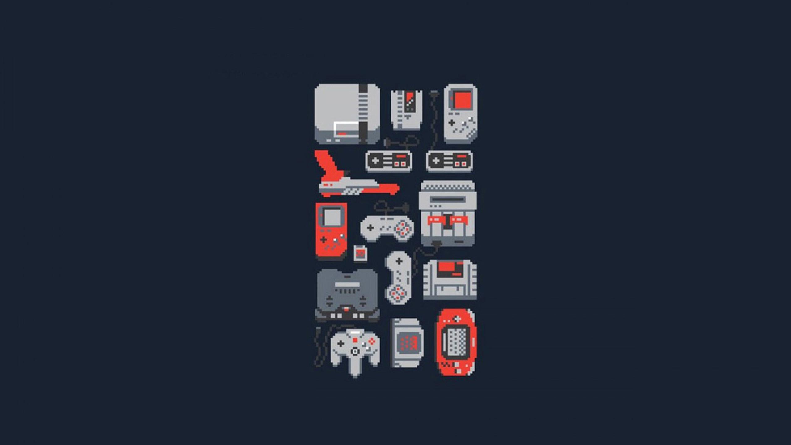 69 Retro Games Wallpaper HD 2560x1440