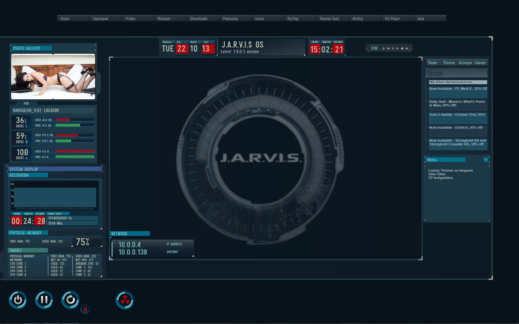 Jarvis Interface Wallpaper for Pinterest 1680x1050