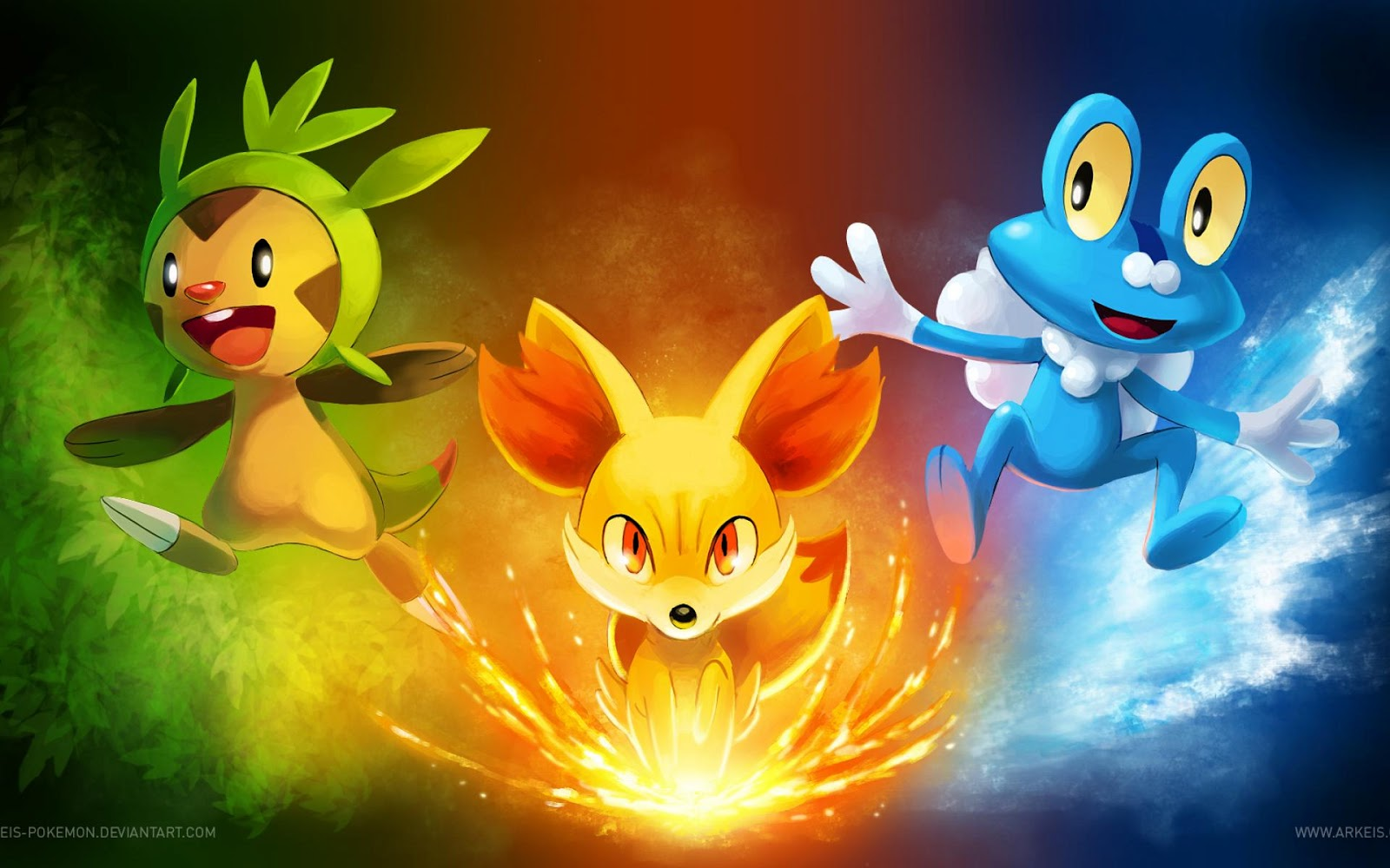 Wallpapers and Pictures Pokemon Pictures Awesome Starters Pokemon 1600x1000