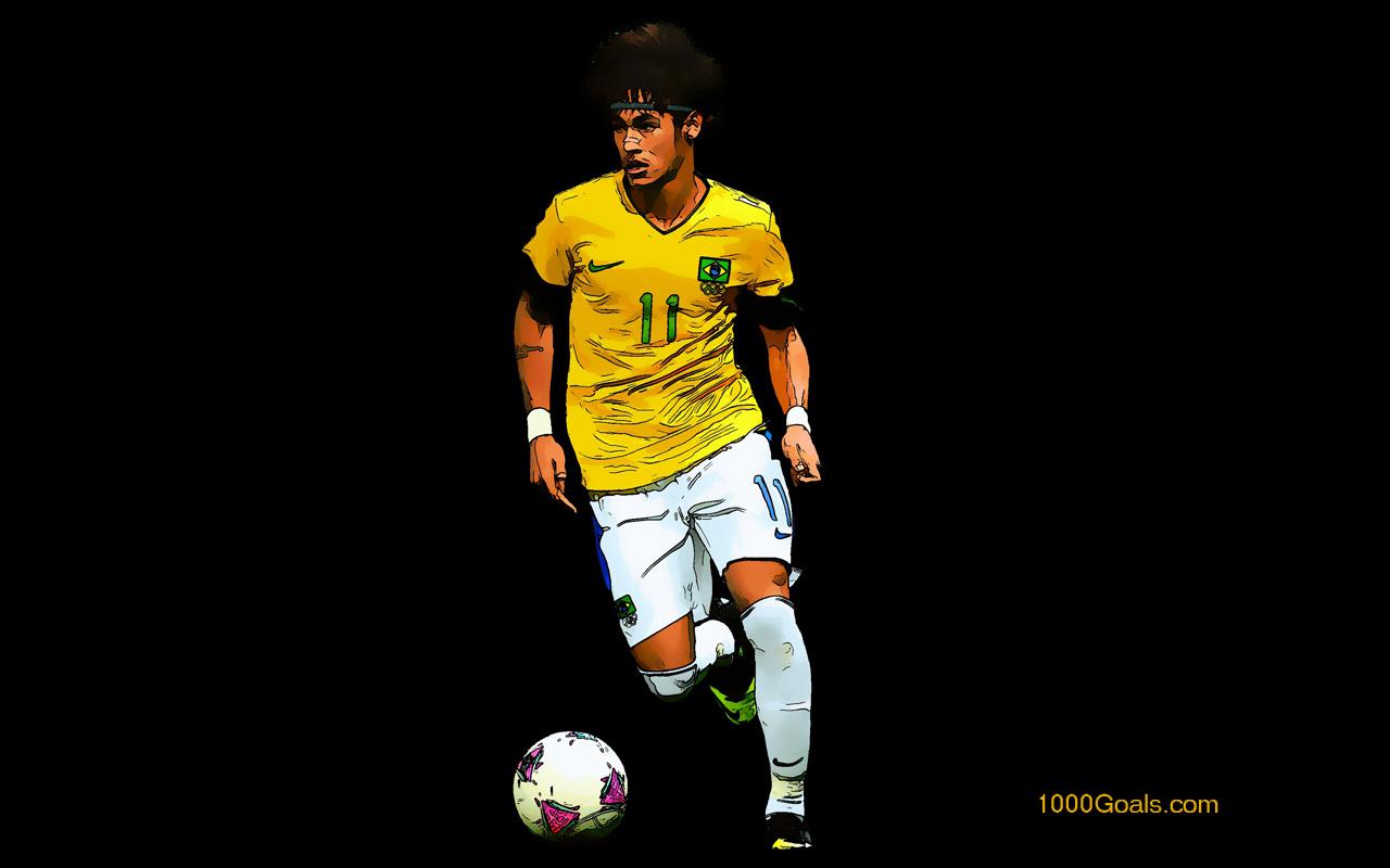Neymar da Silva Santos Junior Brazil wallpaper 1000 Goals 1280x800