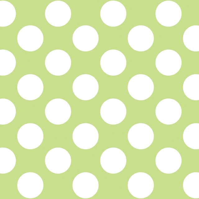 Polka Dot GreenWhite Removable Wallpaper contemporary wallpaper 640x640