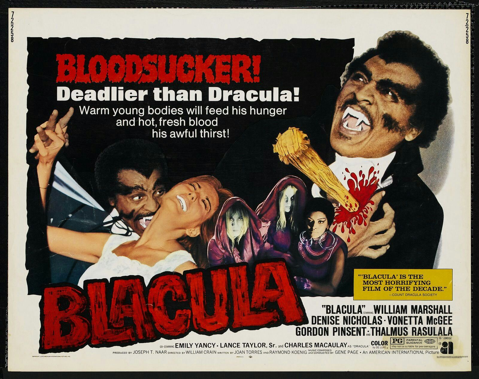Blacula things to watch Movie posters Film posters Horror 1600x1267