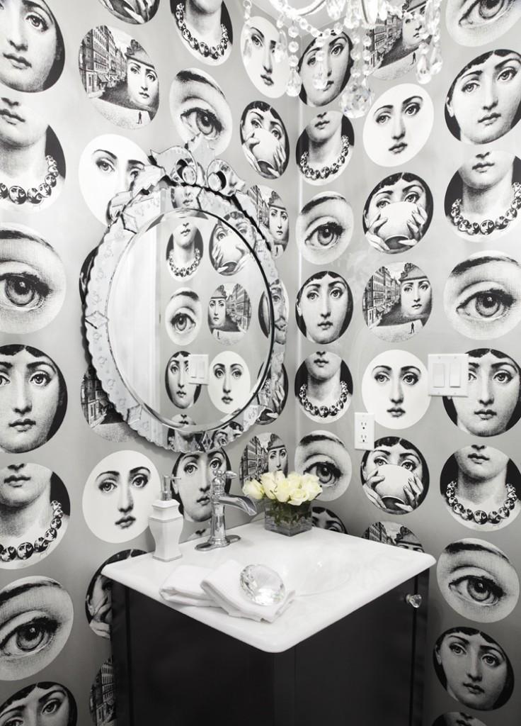 Piero Fornasetti   Wallpaper 736x1024