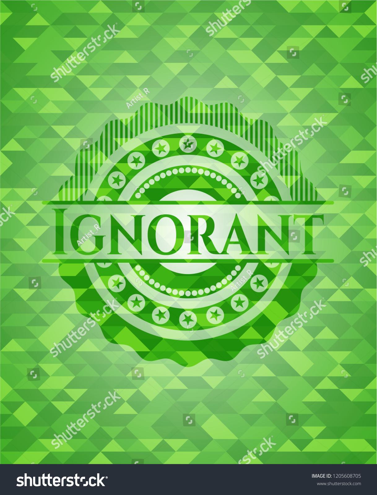 Ignorant Green Emblem Triangle Mosaic Background Stock Vector 1218x1600