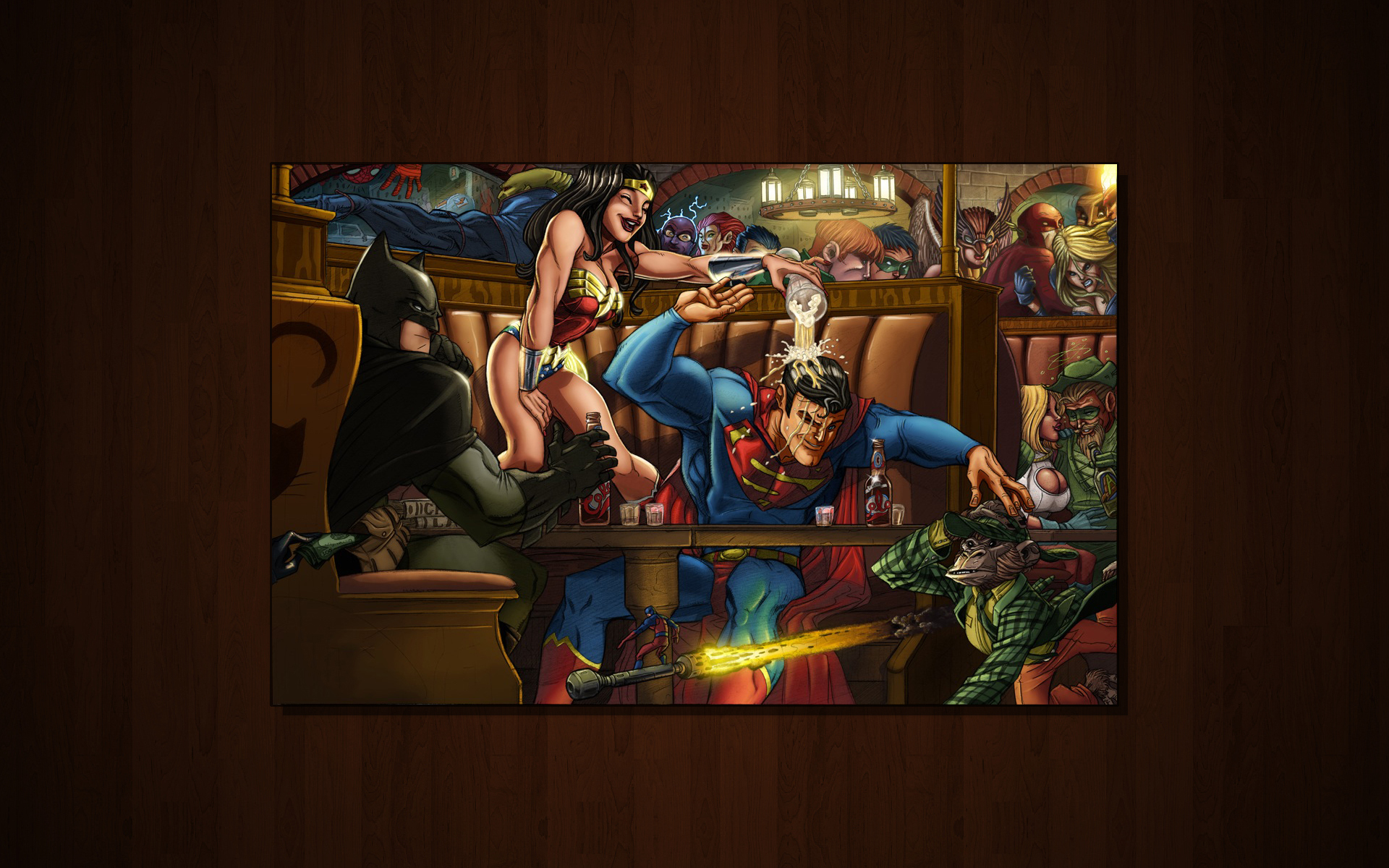 DC Comics Bar Time Wallpapers DC Comics Bar Time HD 1920x1200