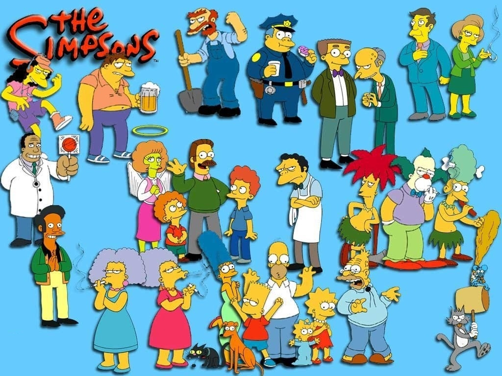 To use this Simpsons picture as your desktop wallpaper right click 1024x768