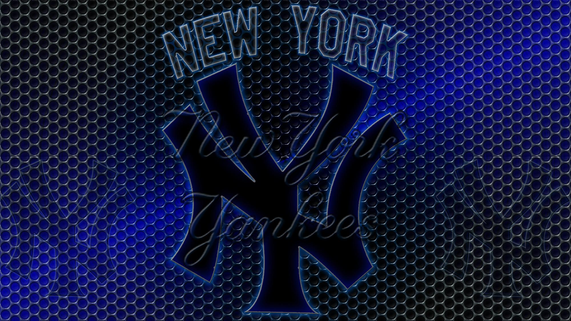 New York Yankees Logo Wallpaper New york yankees logo grid 2000x1126