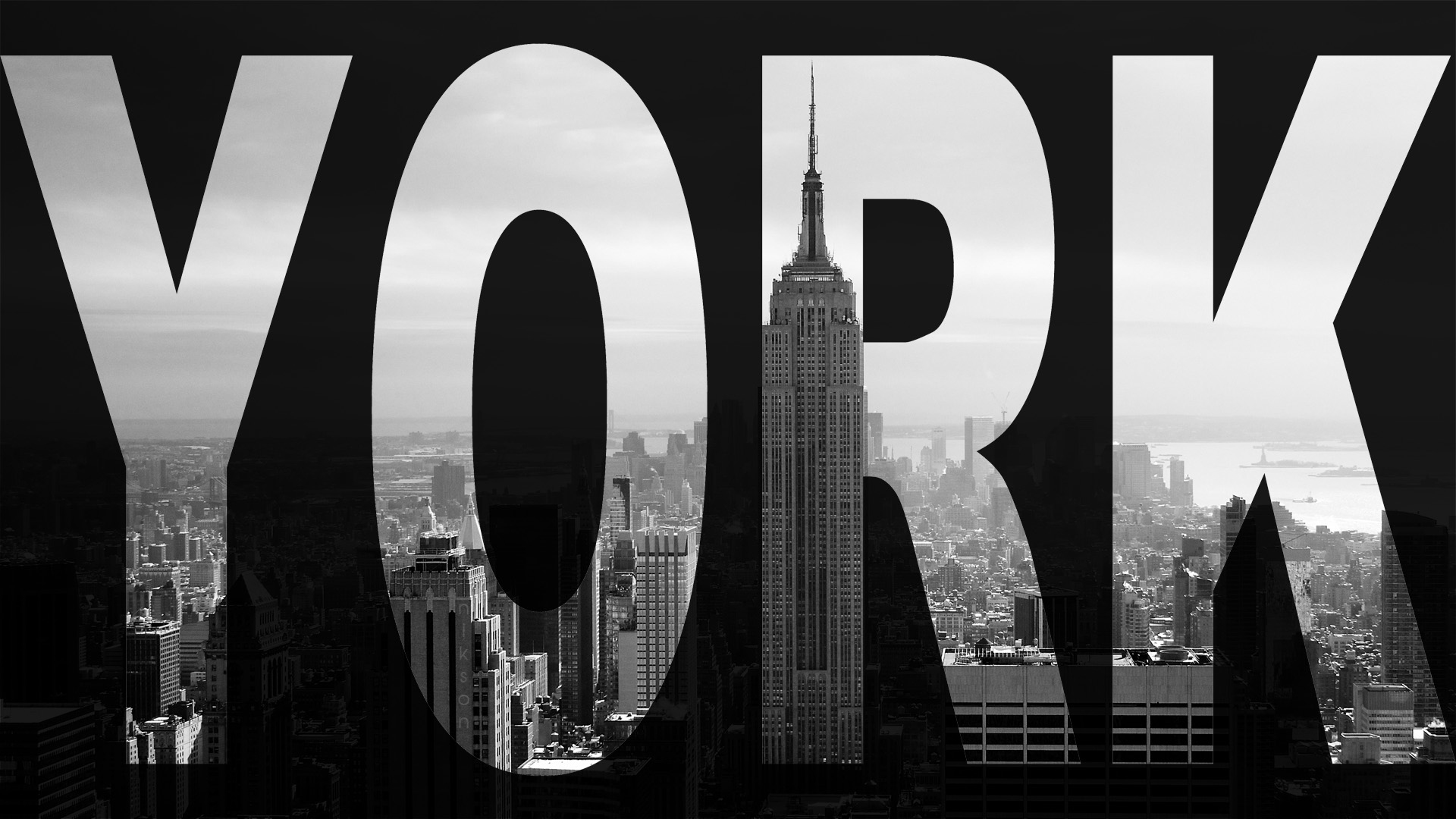 city new york skyscraper black and whitejpg 1920x1080