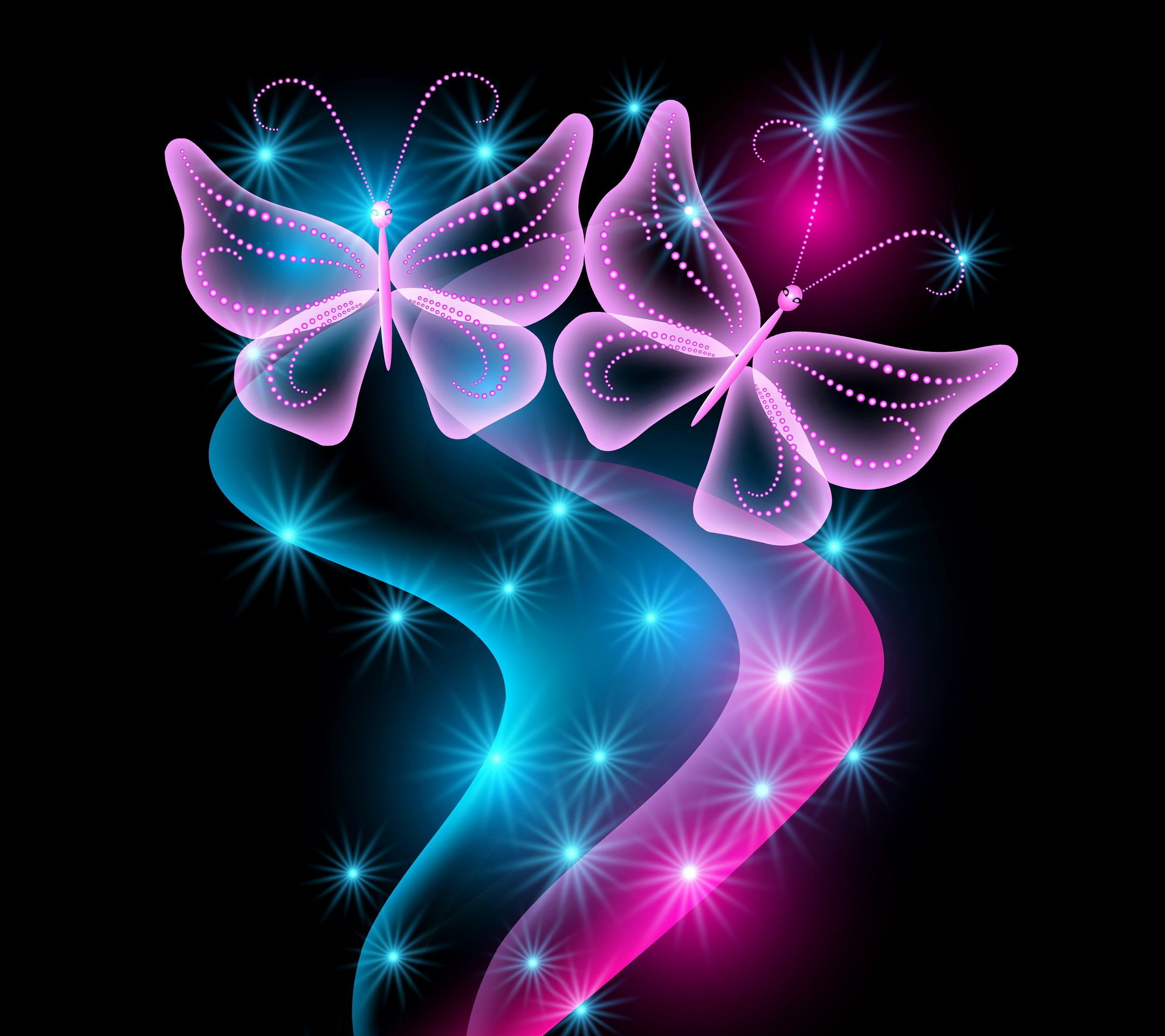 free butterfly wallpaper for kindle fire hd pink sparkle 2160x1920