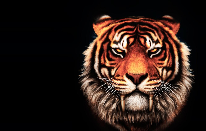 Wallpaper tiger fantasy art big cat the leader the oldest 1332x850