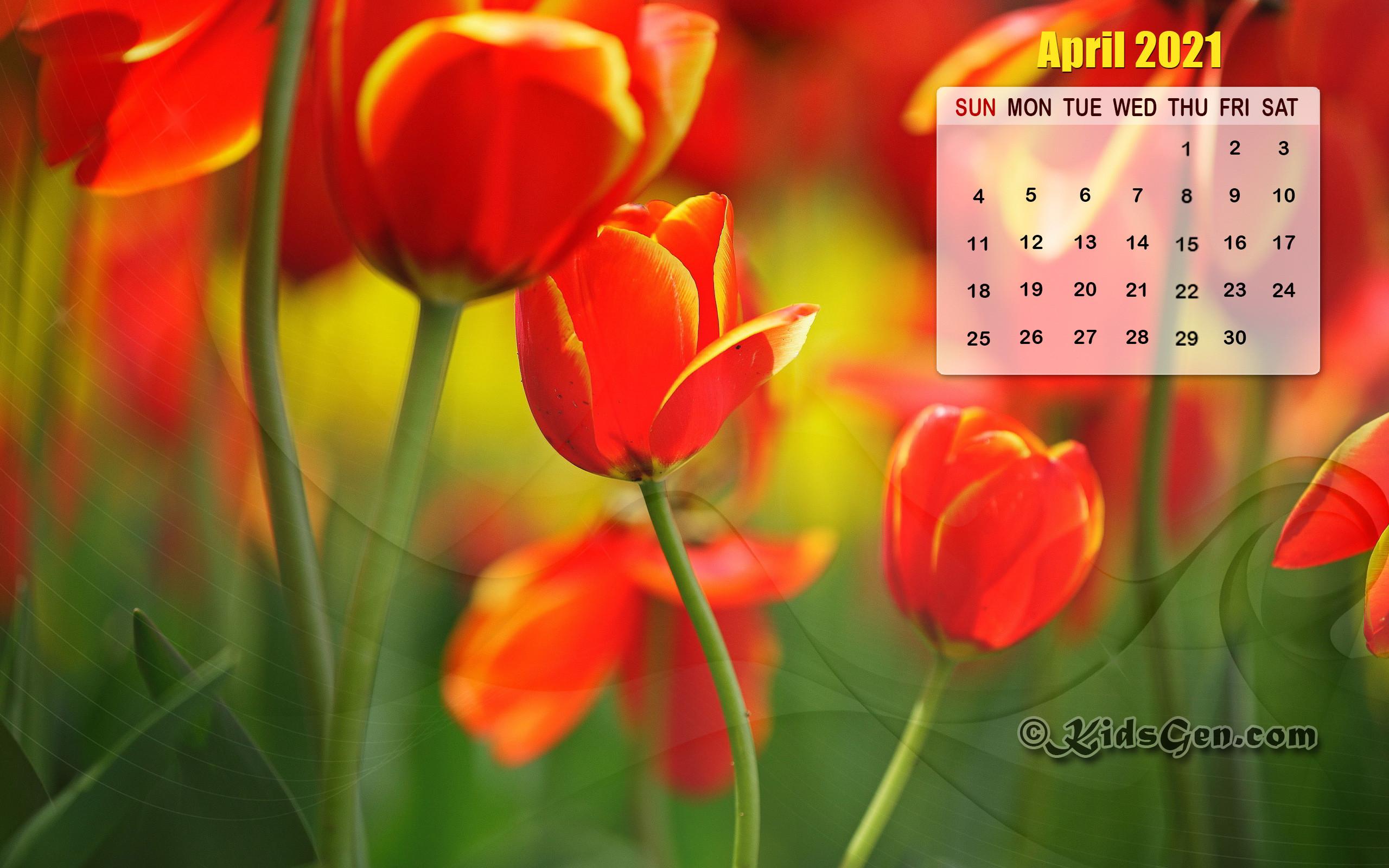 April Calendar Wallpaper   2021 2560x1600