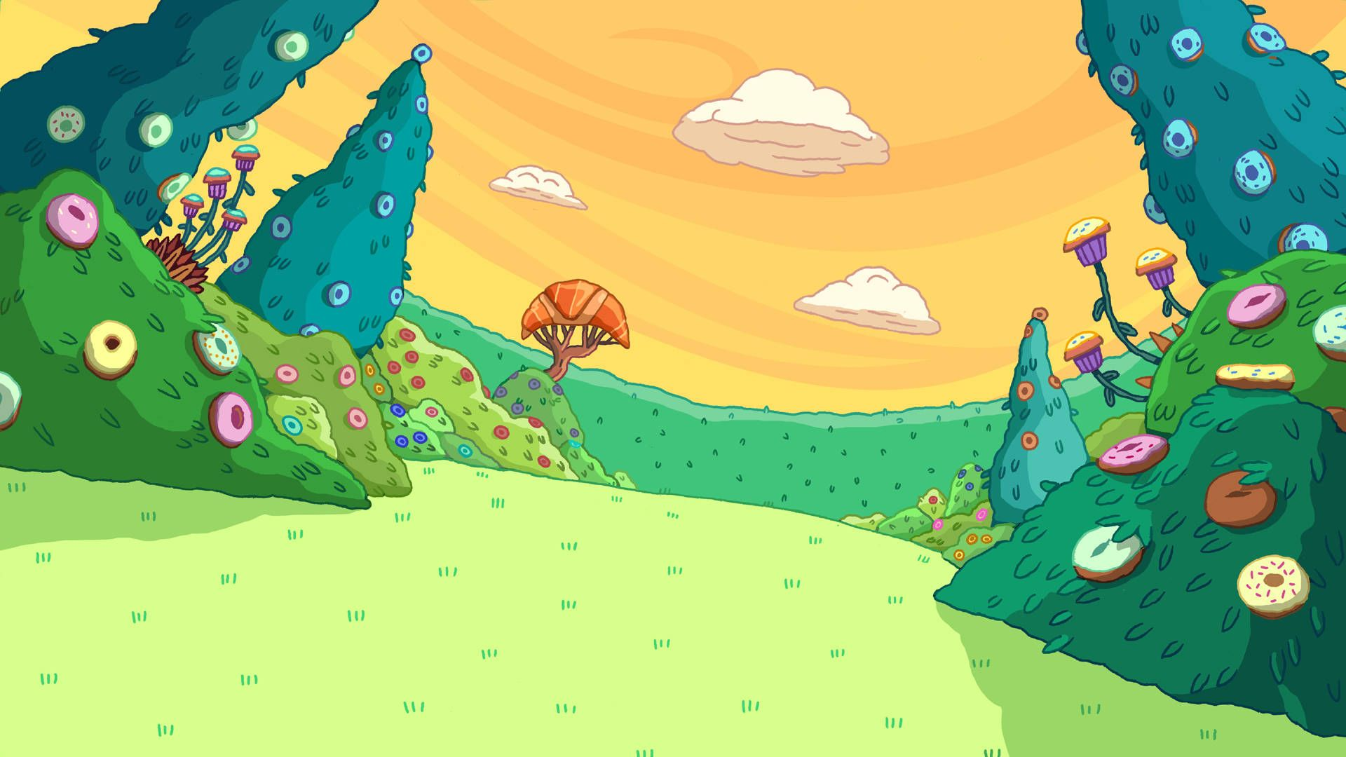 Adventure Time Background wallpaper Adventure Time in 2019 1920x1080