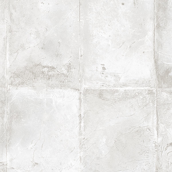Faux Tuscan Tile Wallpaper Gray 1 Bolt   Contemporary   Wall Decor 600x600