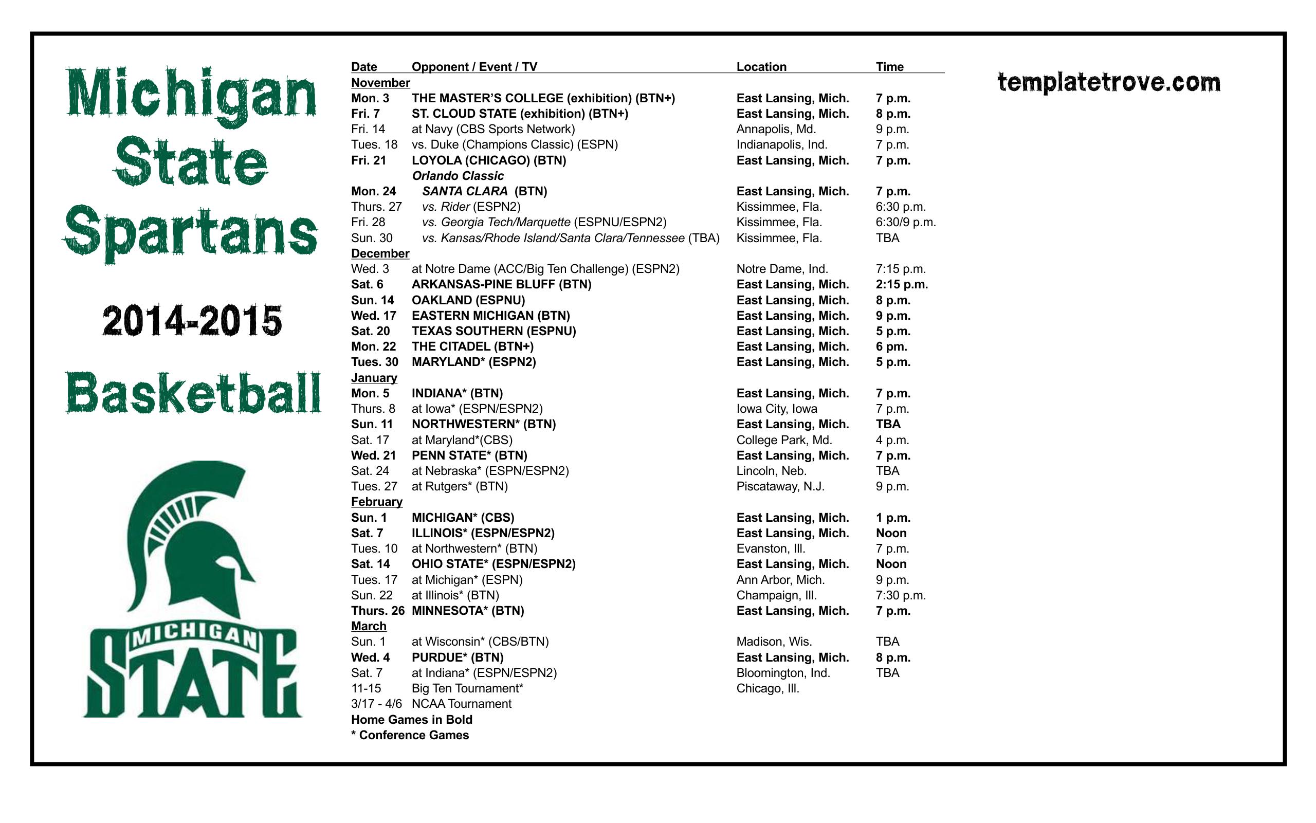 Sdsu Schedule Basketball 2014 2015 | 2015 Calendar Printable