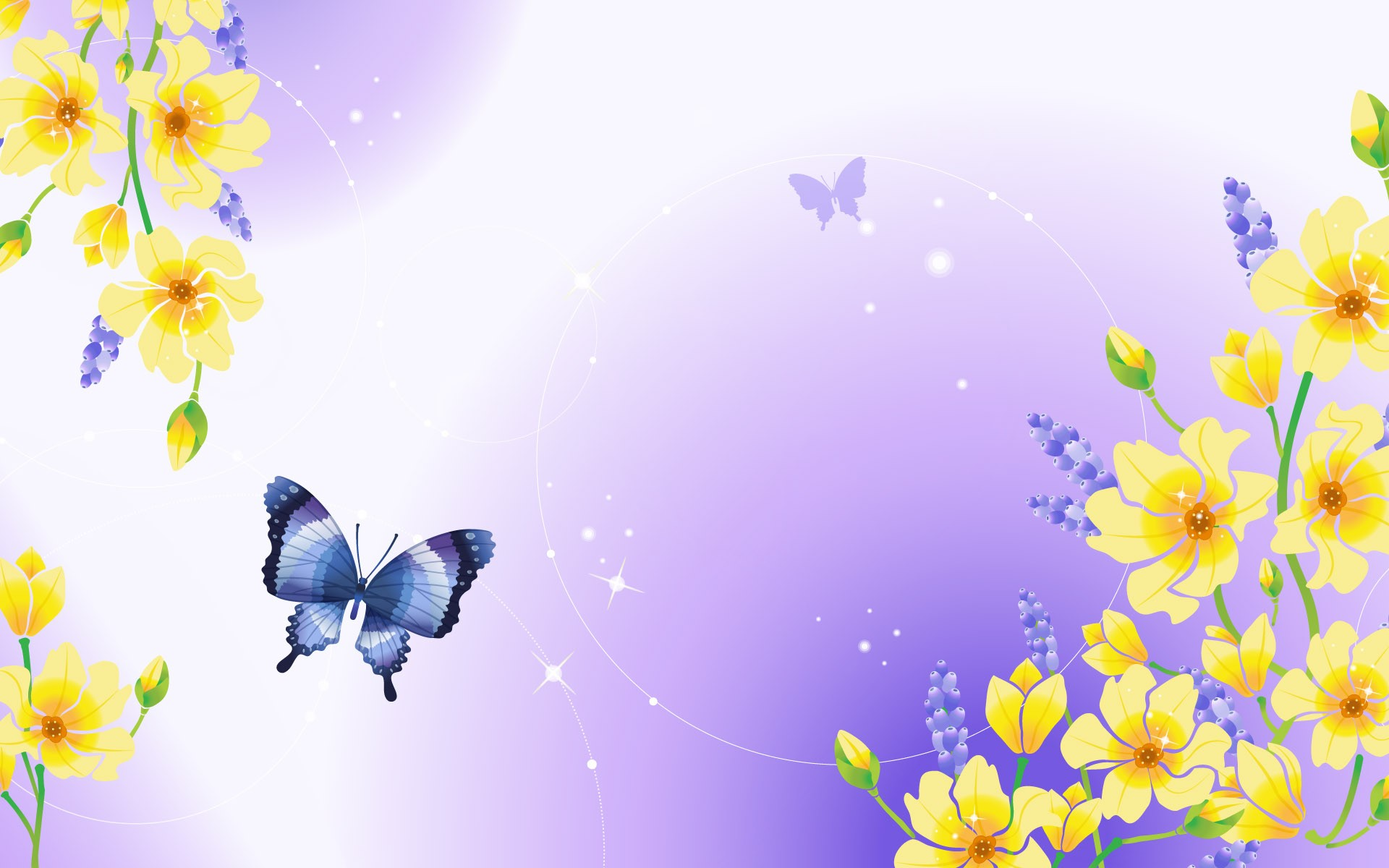 графика бабочки цветы вода graphics butterfly flowers water  № 1313418 без смс