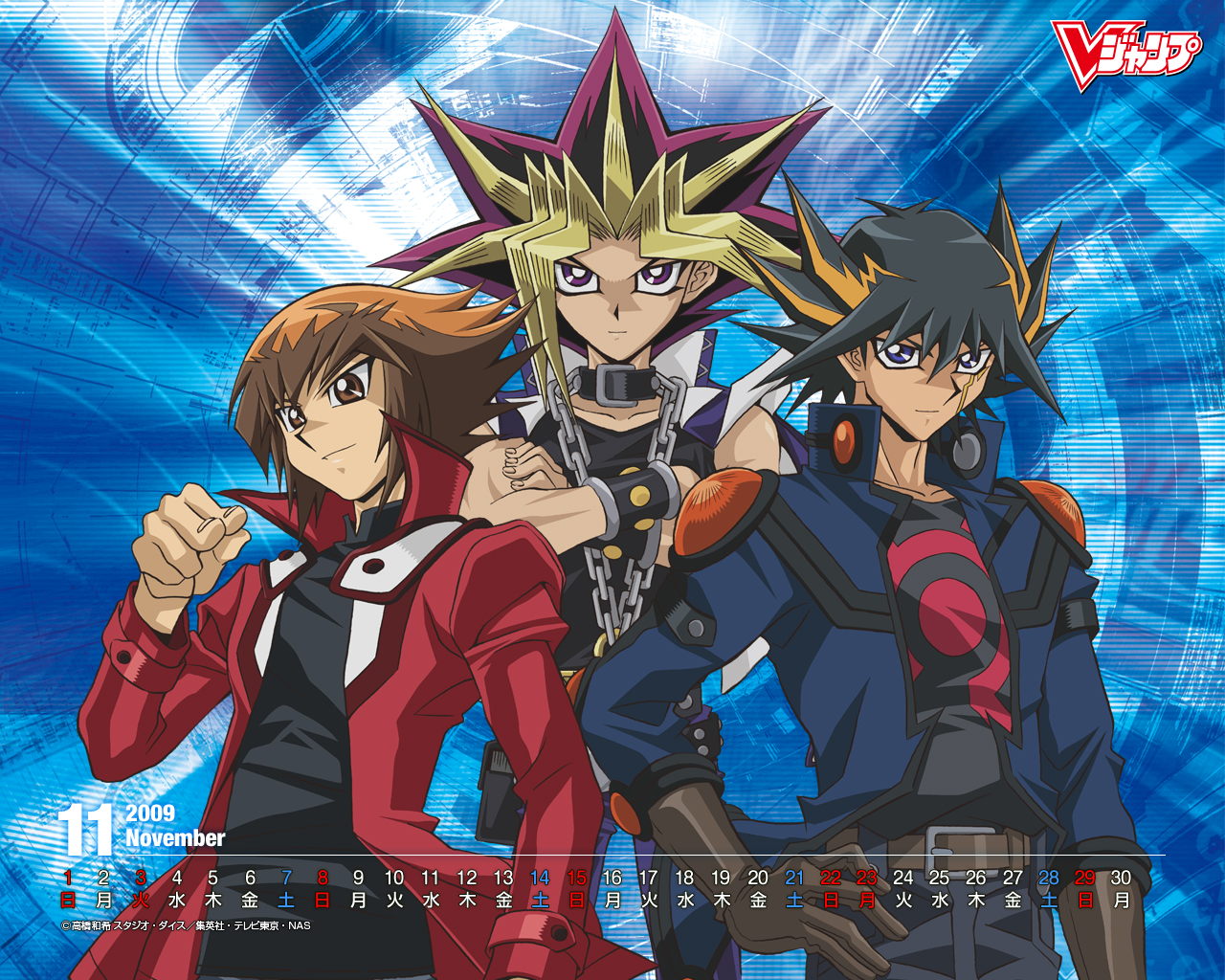 Jaden Yami Atem and Yusei   The Anime Kingdom Wallpaper 1280x1024