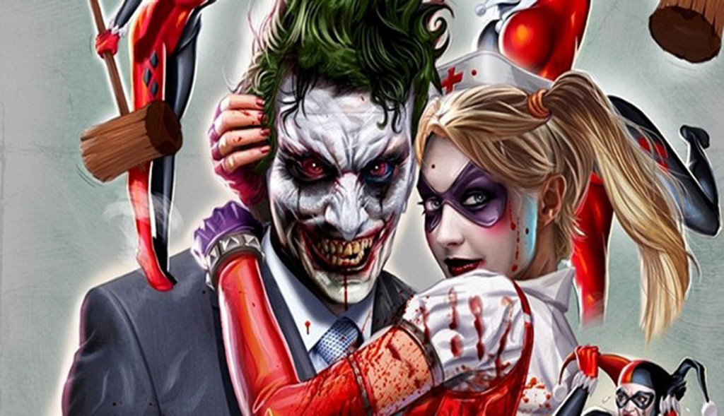 Download Suicide Squad Joker Harley Quinn Poster Wallpapers 1024x589