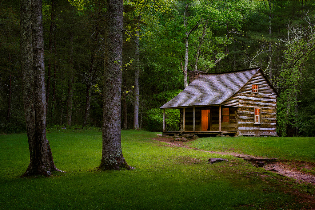 Carter Shields Cabin Great Smoky Mountains National Park Title 1024x684