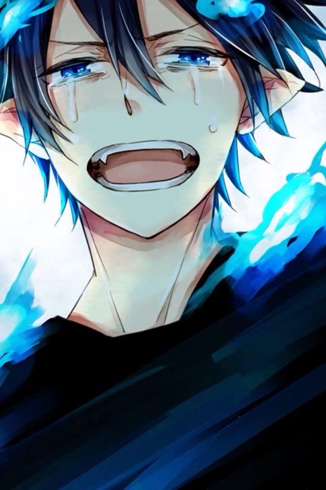 anime sad wallpaper iphone: Blue Exorcist Phone Wallpaper