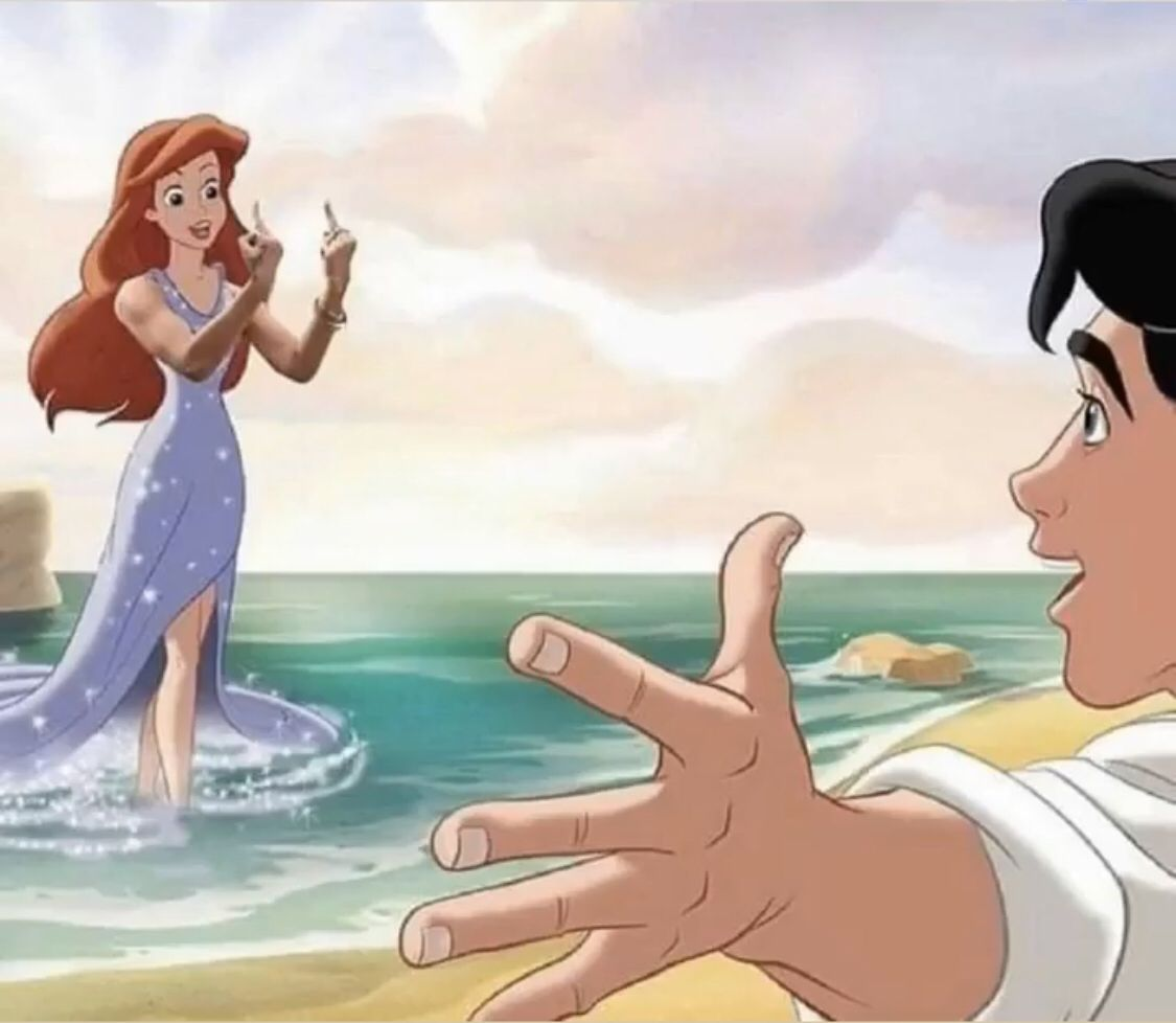 Digital illustration art Disney princess memes Disney princess 1125x978