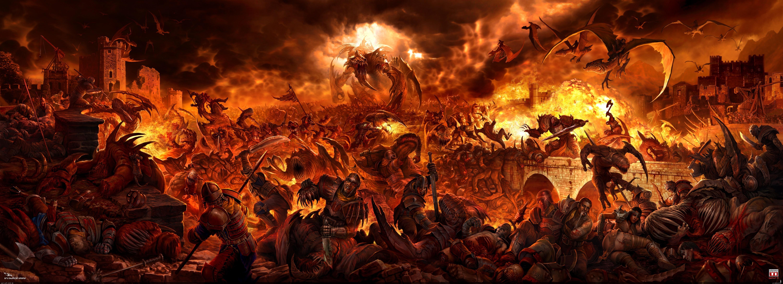 Free Download Fantasy Art Digital Art Hell Wallpapers Hd