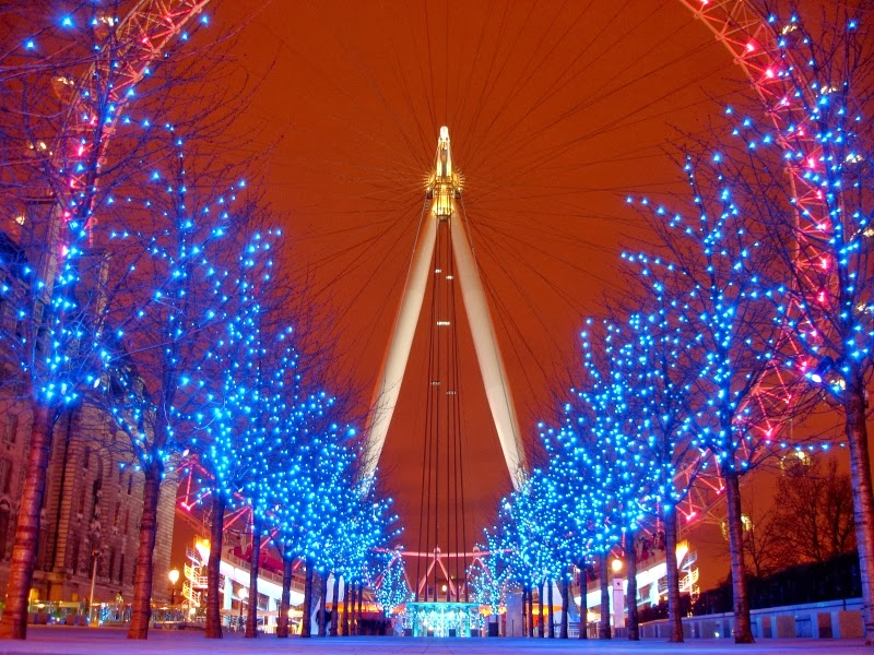 Christmas London Eye 800x600