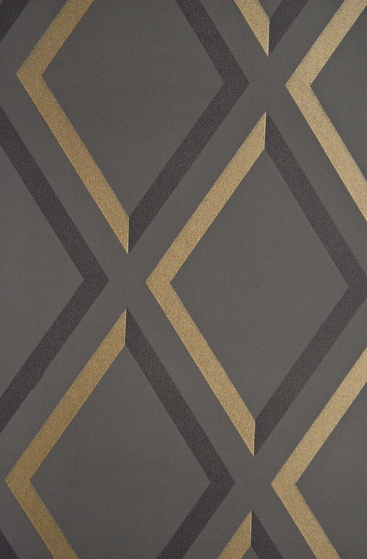 Trellis Wallpaper Geometric Charcoal and Black diamond trellis 534x812