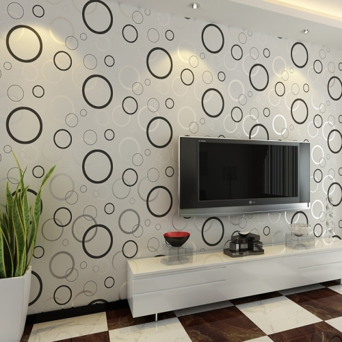 DIY Fashion Self Adhesive PVC Wallpaper Damp proof Wall Stickers Wall 500x500