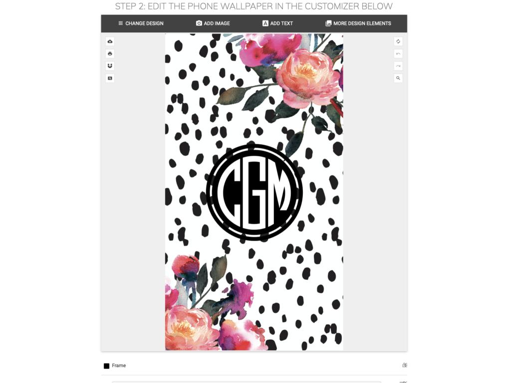 How to Make Monogram Phone Wallpaper   Chicfetti 1024x768