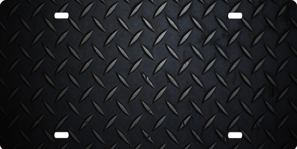 Diamond Plate Background License Plate Black Diamond Plate Background 600x302