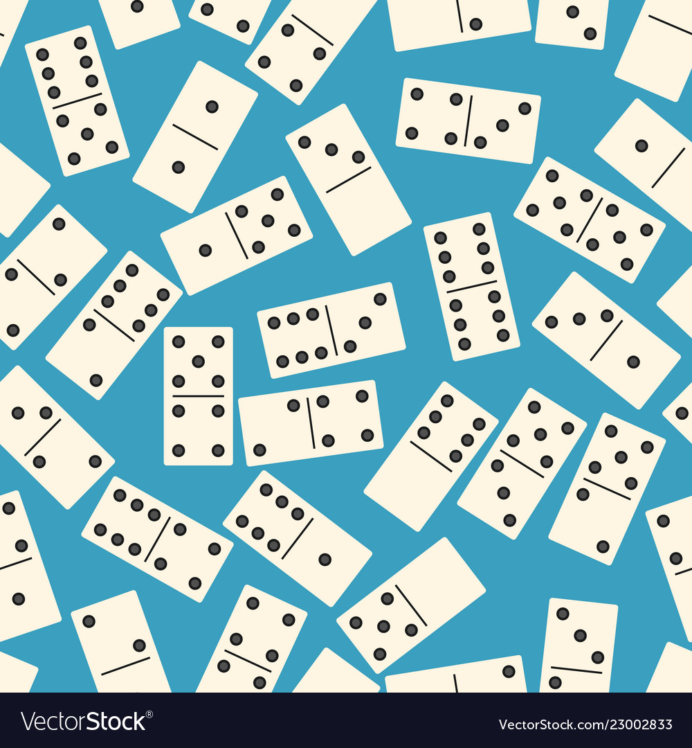 Seamless pattern with domino on blue background Vector Image 1000x1080