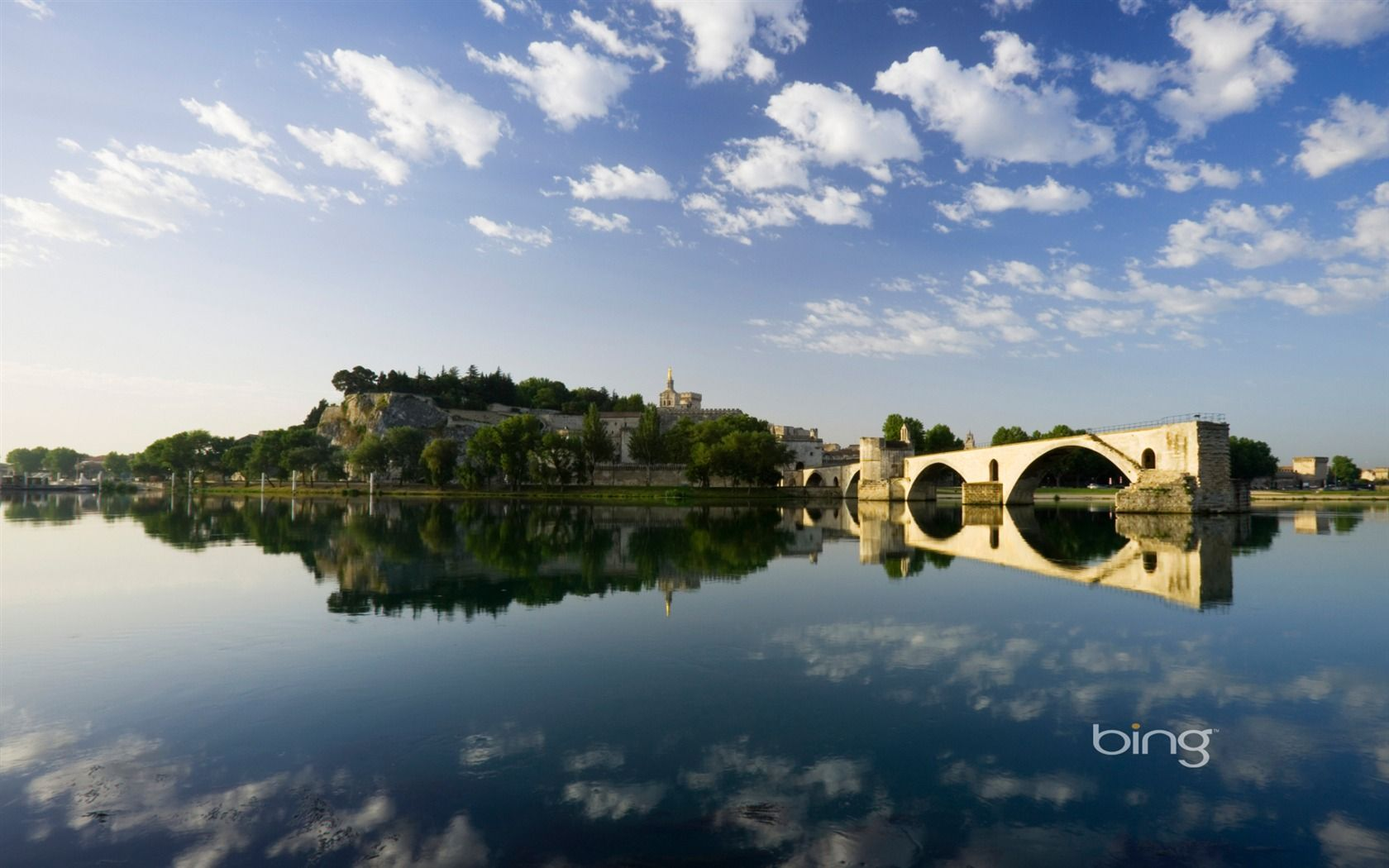 Bing Wallpapers as Desktop Background on the Rhone France 1680x1050