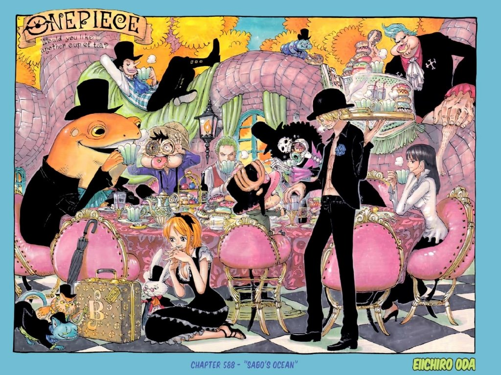One Piece Epic Anime Wallpaper 1024x768