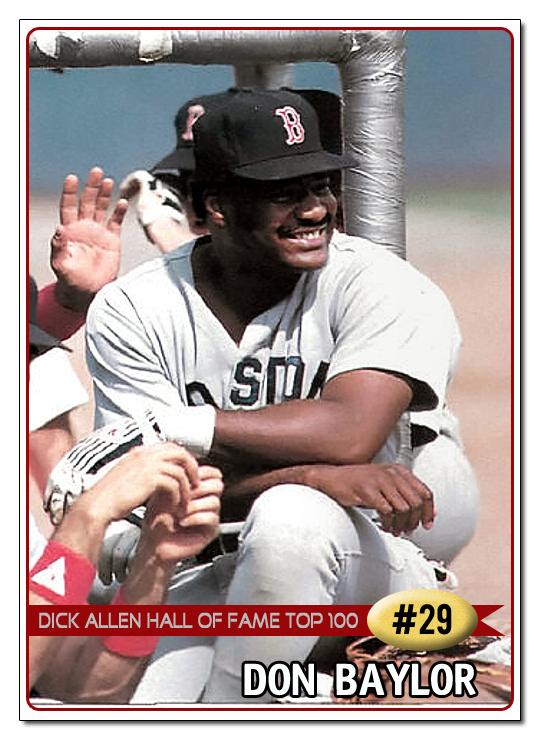 Dick Allen Hall of Fame DAHOF Top 100    29 Don Baylor 540x740